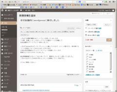 wordpress編集画面